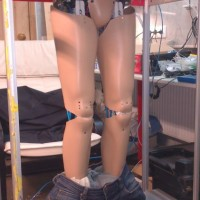 Аниматроничные ноги. Прототип
