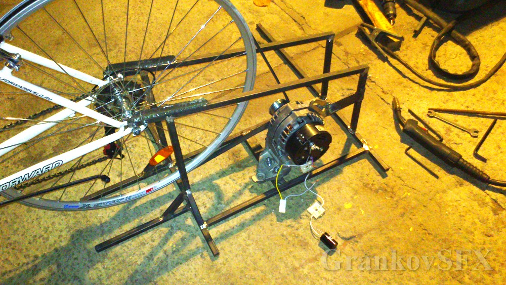 Как сделать велосипед вырабатывающий энергию